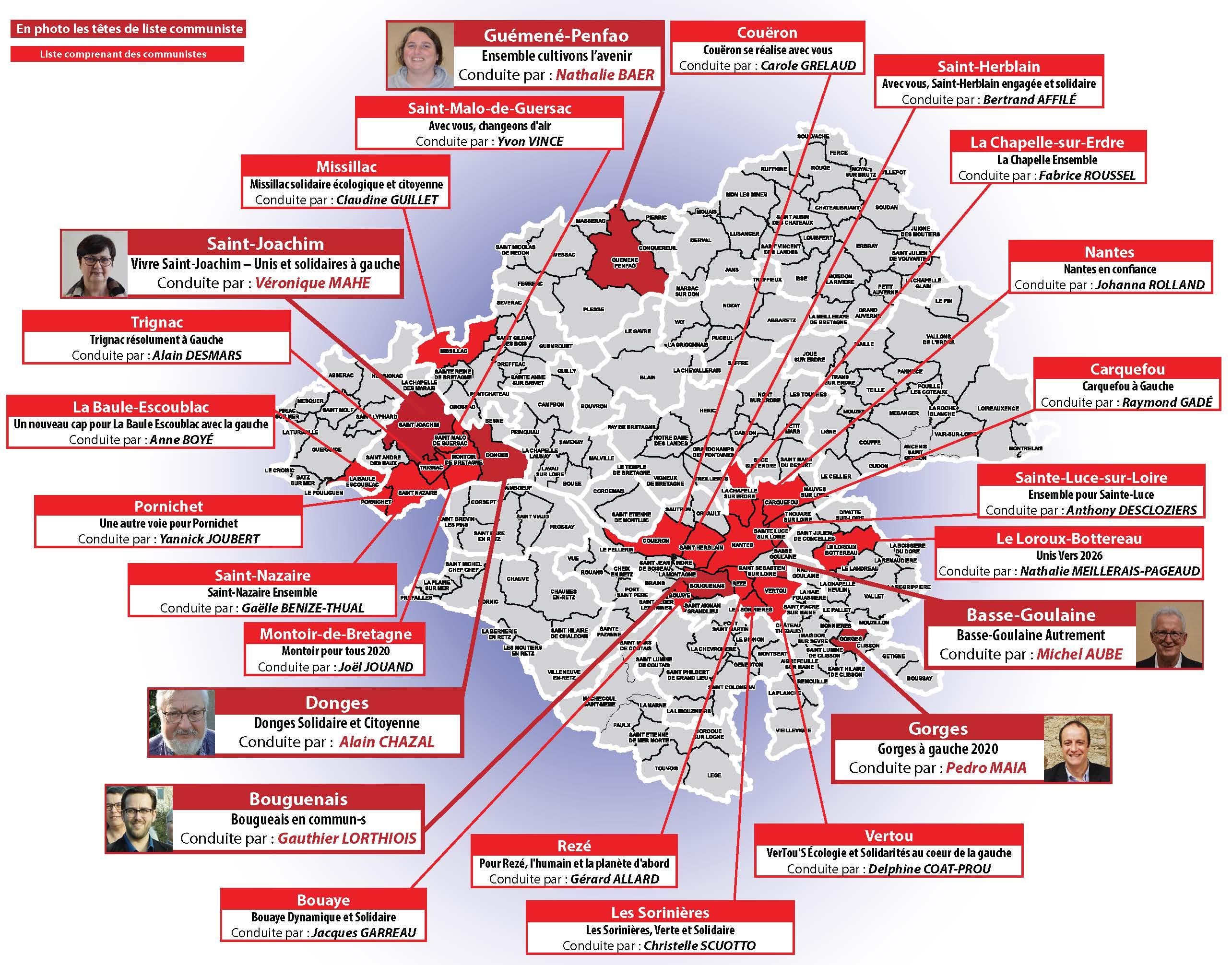 Liste avec des Communistes en Loire-Atlantique 44